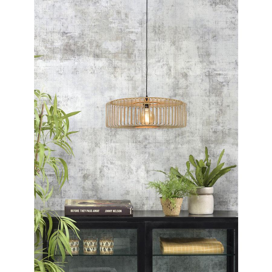 Hanglamp BROMO bamboe naturel met ronde lampenkap in 2 maten-5