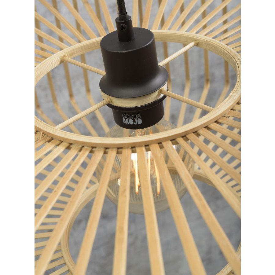 Hanglamp BROMO bamboe naturel met ronde lampenkap in 2 maten-10