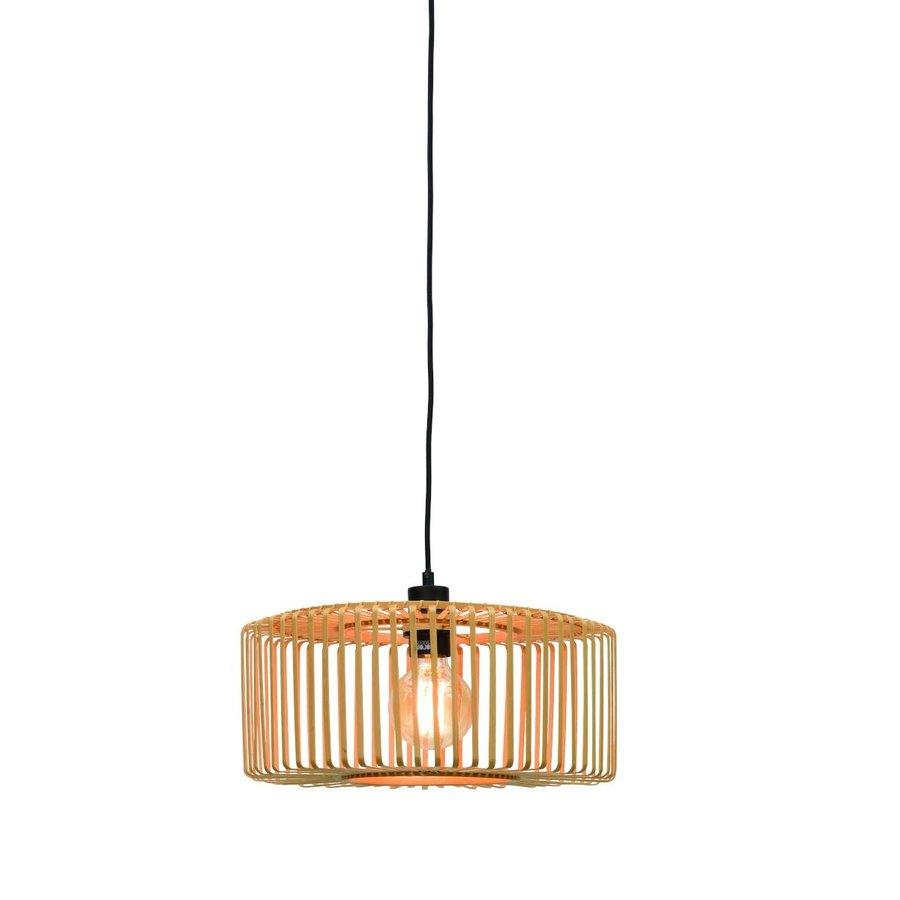 Hanglamp BROMO bamboe naturel met ronde lampenkap in 2 maten-1