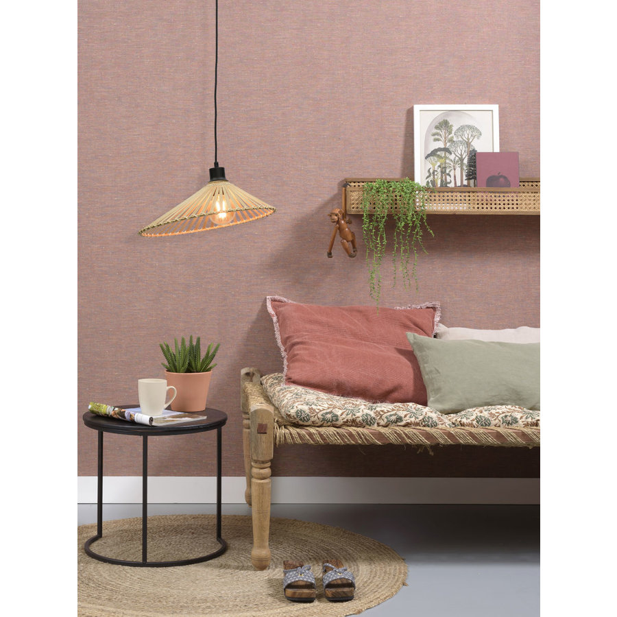 Hanglamp BROMO bamboe naturel met asymmetrische lampenkap in 3 maten-5