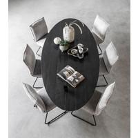 thumb-Eettafel Timeless Black Shape, Ovaal-7