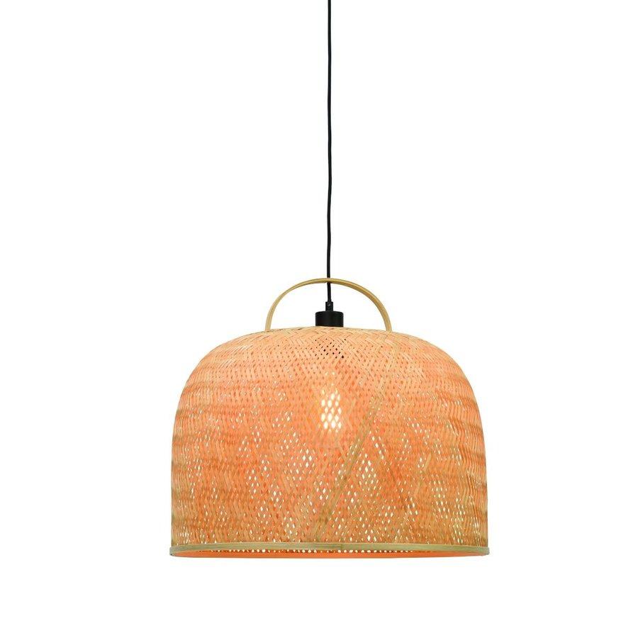 Hanglamp SERENGETIE bamboe naturel met ronde lampenkap in 2 maten-2