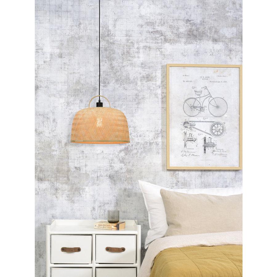 Hanglamp SERENGETIE bamboe naturel met ronde lampenkap in 2 maten-3