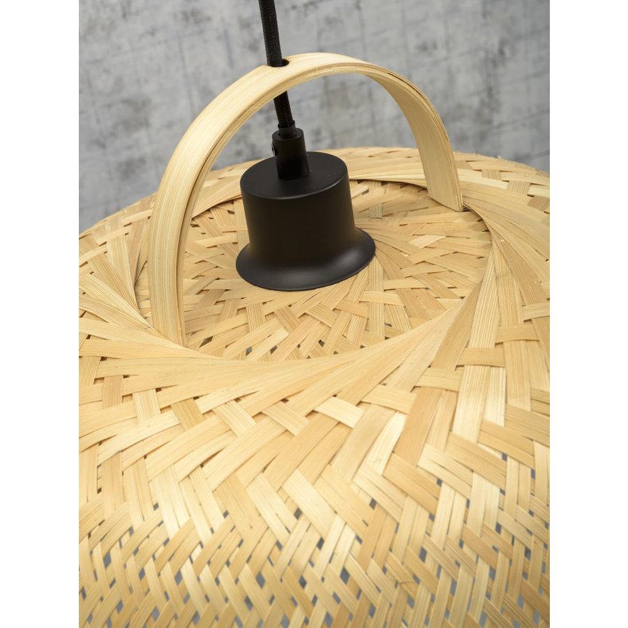 Hanglamp SERENGETIE bamboe naturel met ronde lampenkap in 2 maten-8