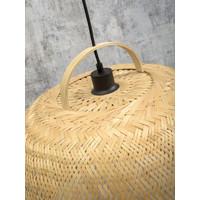 thumb-Hanglamp SERENGETIE bamboe naturel met ronde lampenkap in 2 maten-9