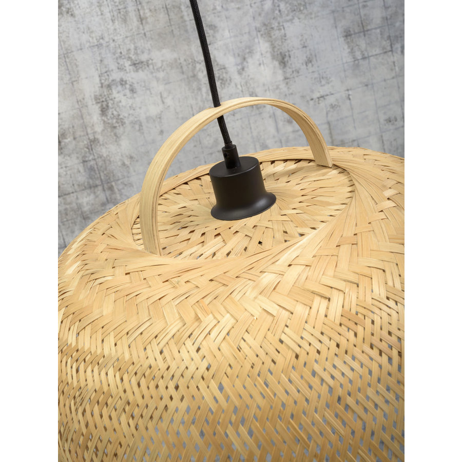 Hanglamp SERENGETIE bamboe naturel met ronde lampenkap in 2 maten-9