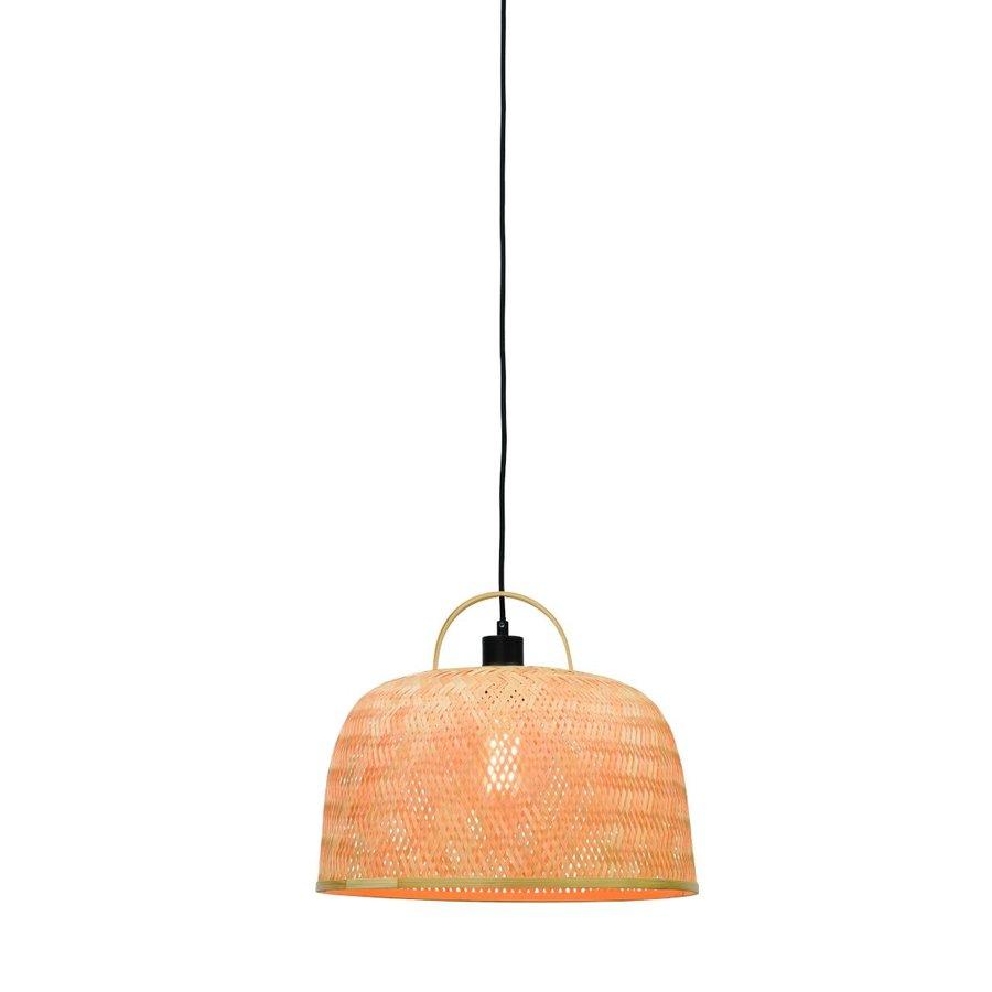 Hanglamp SERENGETIE bamboe naturel met ronde lampenkap in 2 maten-1