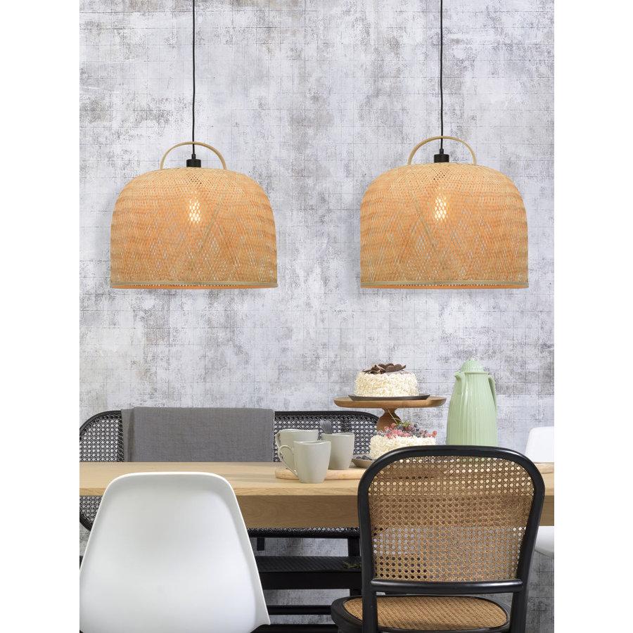 Hanglamp SERENGETIE bamboe naturel met ronde lampenkap in 2 maten-6