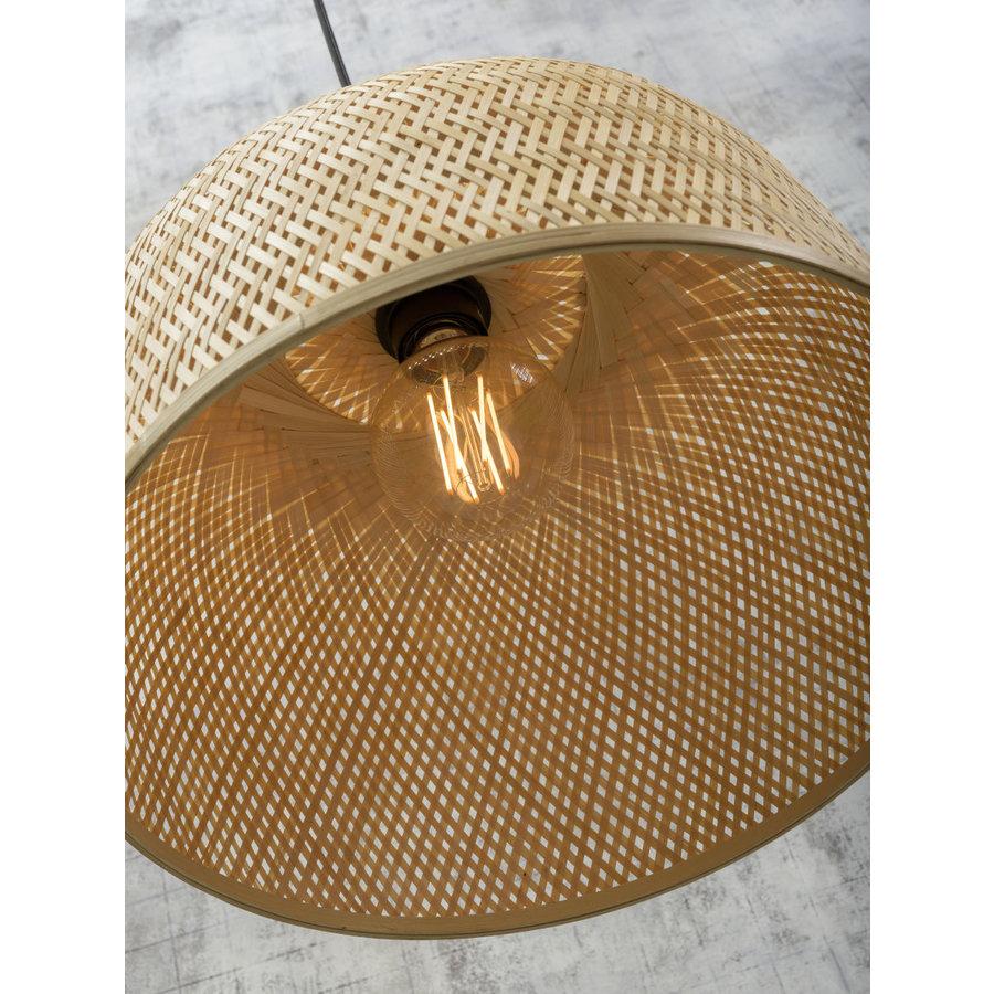 Hanglamp SERENGETIE bamboe naturel met ronde lampenkap in 2 maten-5