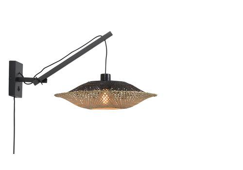 Wandlamp Kalimantan zwart S