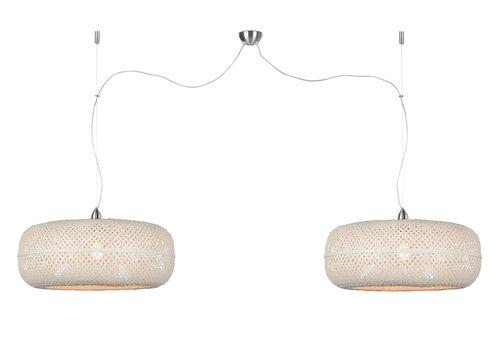 Dubbele Hanglamp Palawan bamboe