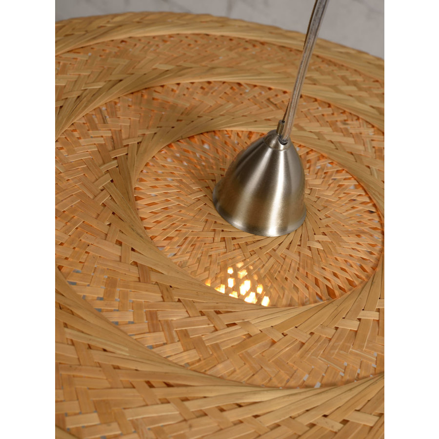 Dubbele hanglamp Palawan bamboe in drie kleuren-8