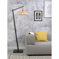 thumb-Vloerlamp PALAWAN bamboe zwart met lampenkap in 2 maten-7