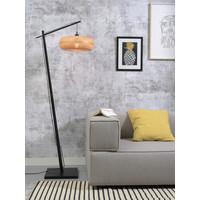 thumb-Vloerlamp PALAWAN bamboe zwart met lampenkap in 2 maten-10
