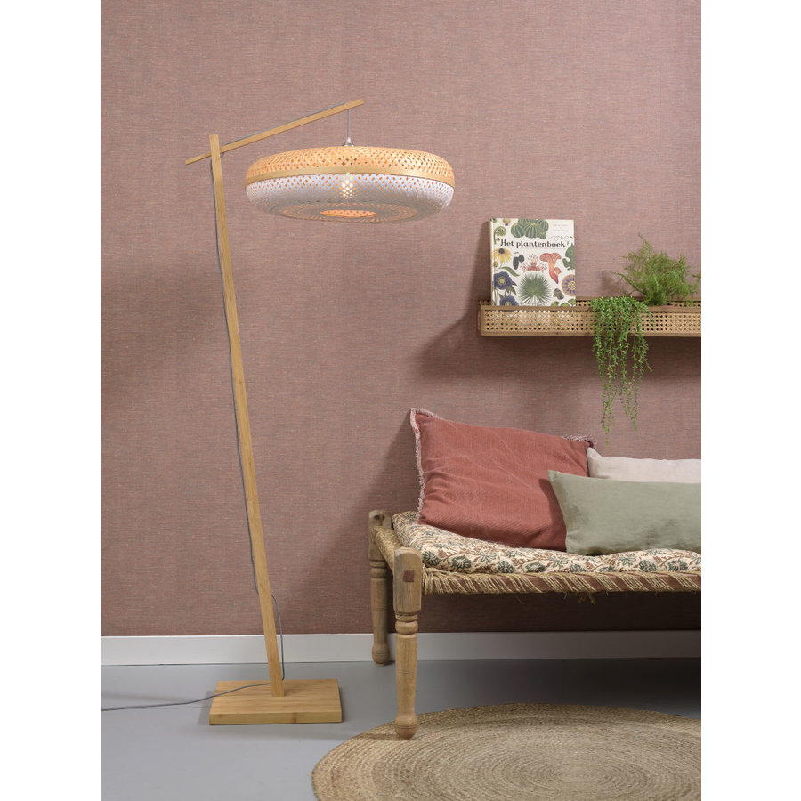 Vloerlamp PALAWAN bamboe naturel met lampenkap in 2 maten-8