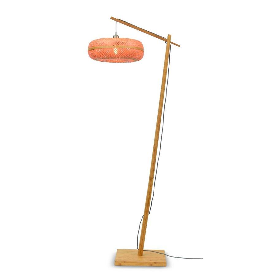 Vloerlamp PALAWAN bamboe naturel met lampenkap in 2 maten-3
