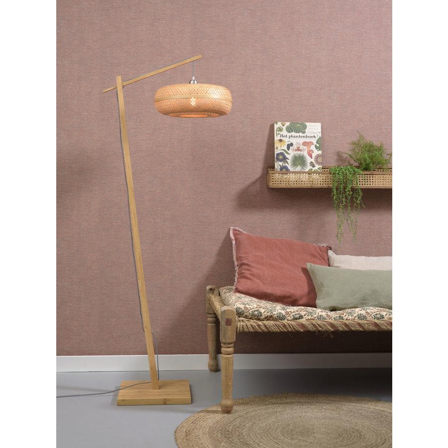 Vloerlamp PALAWAN bamboe naturel met lampenkap in 2 maten-10