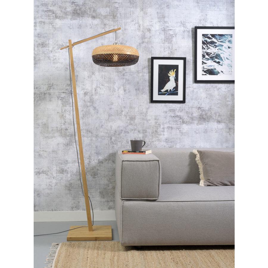Vloerlamp PALAWAN bamboe naturel met lampenkap in 2 maten-2