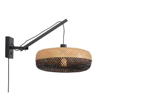 Wandlamp Palawan zwart S