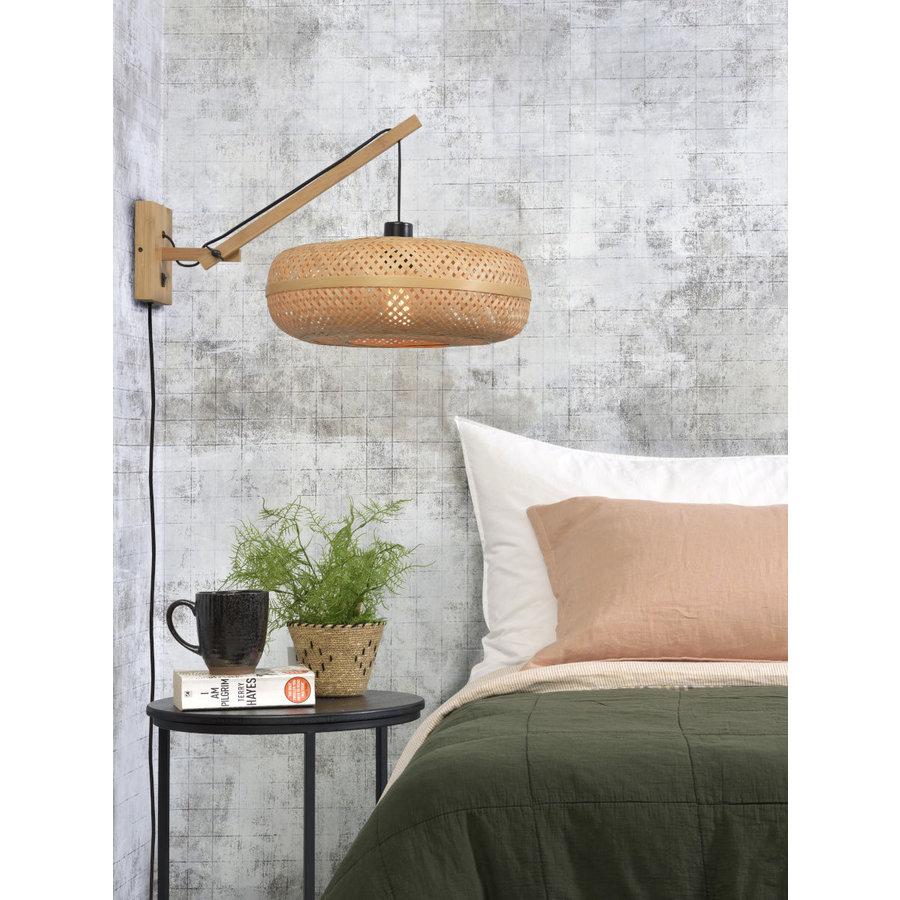 Wandlamp Palawan bamboe naturel met arm Small-4