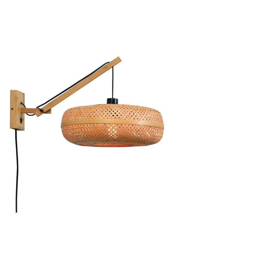 Wandlamp Palawan bamboe naturel met arm Small-1