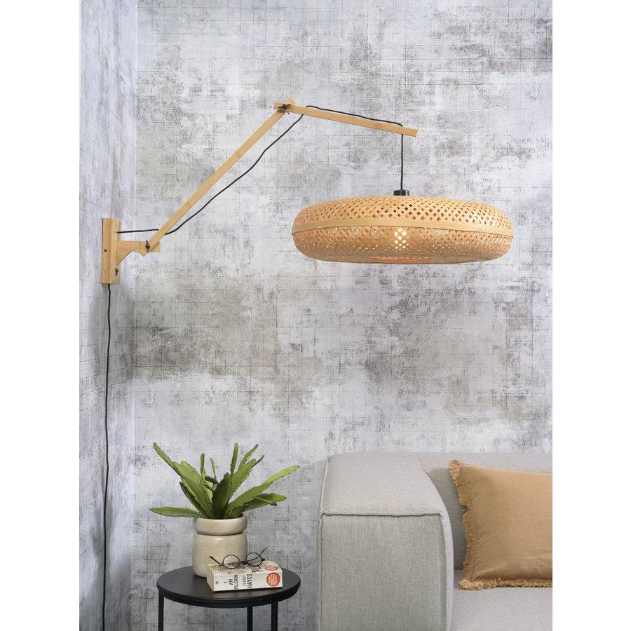 Wandlamp Palawan bamboe naturel met arm Large-10