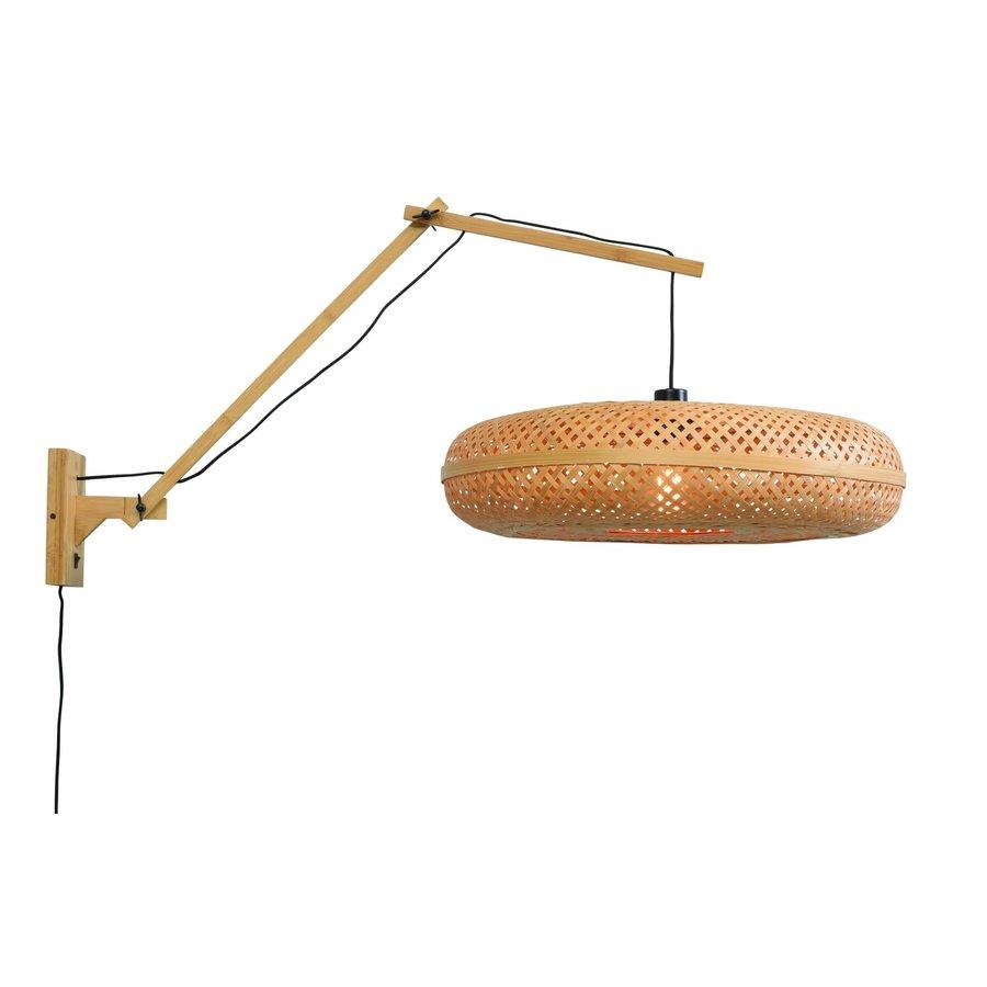 Wandlamp Palawan bamboe naturel met arm Large-6