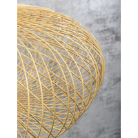 thumb-Plafonnière CANGO bamboe naturel of zwart-8