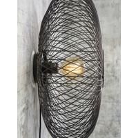 thumb-Wandlamp Cango bamboe verticaal rond in zwart of naturel-6