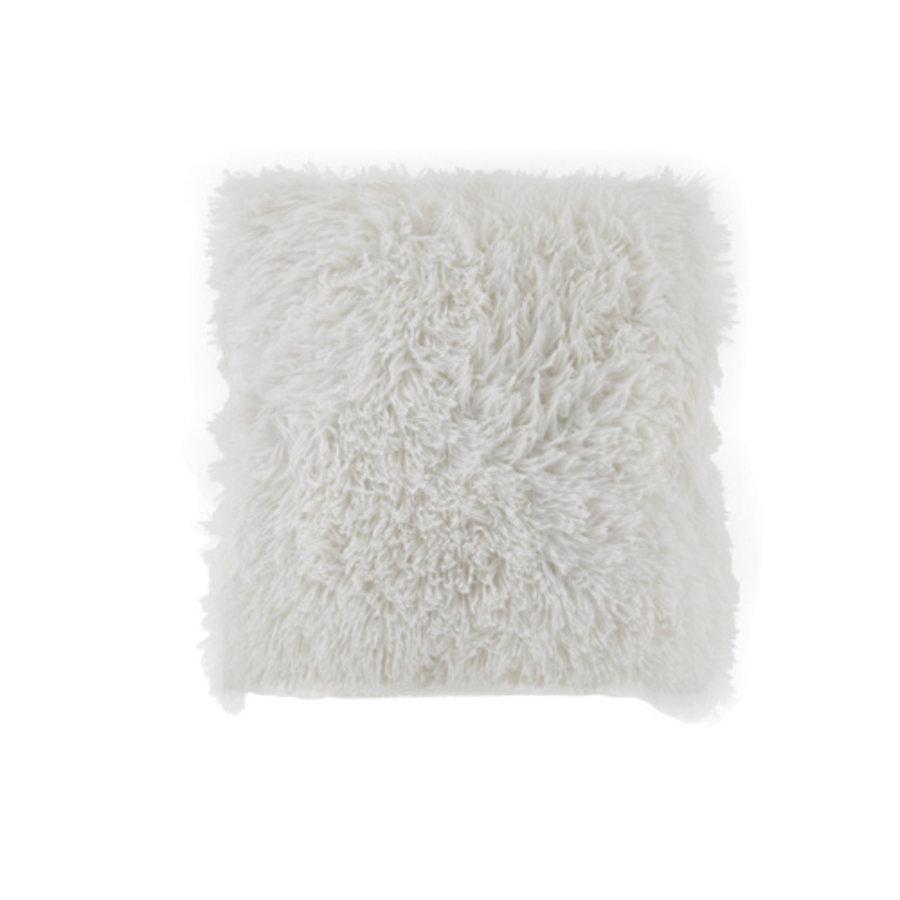 Kussen Fluffy wit 45 x 45 cm-1