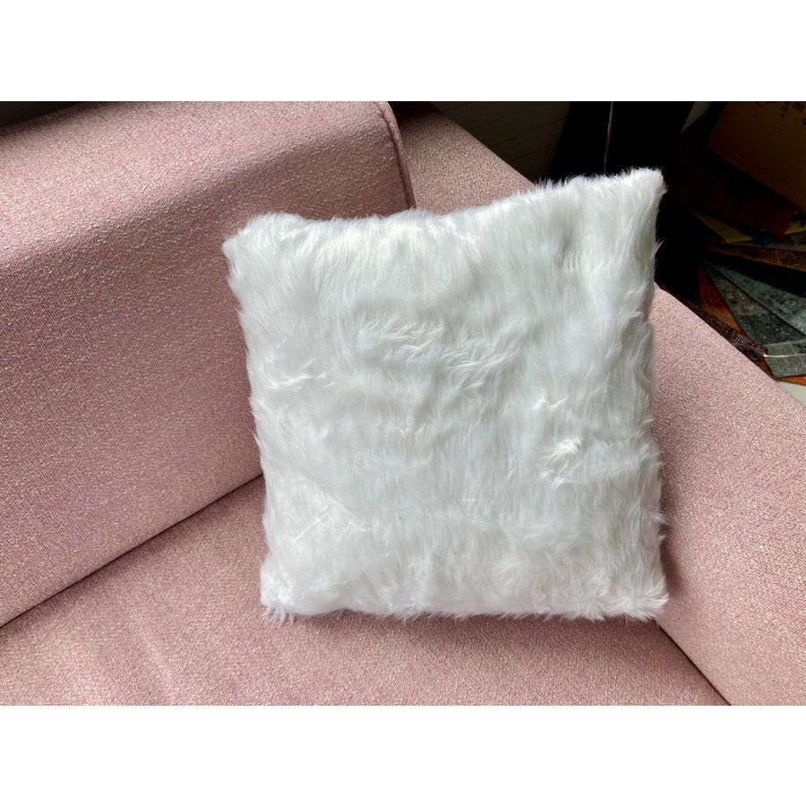 Kussen Fluffy wit 45 x 45 cm-3