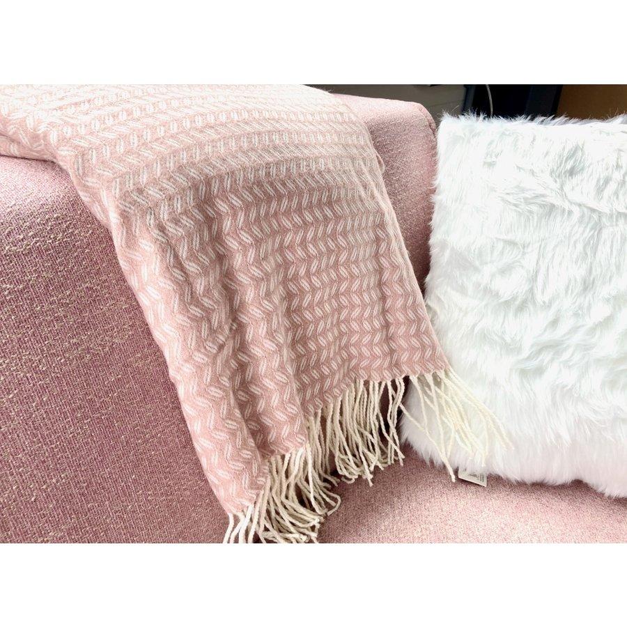 Kussen Fluffy wit 45 x 45 cm-4