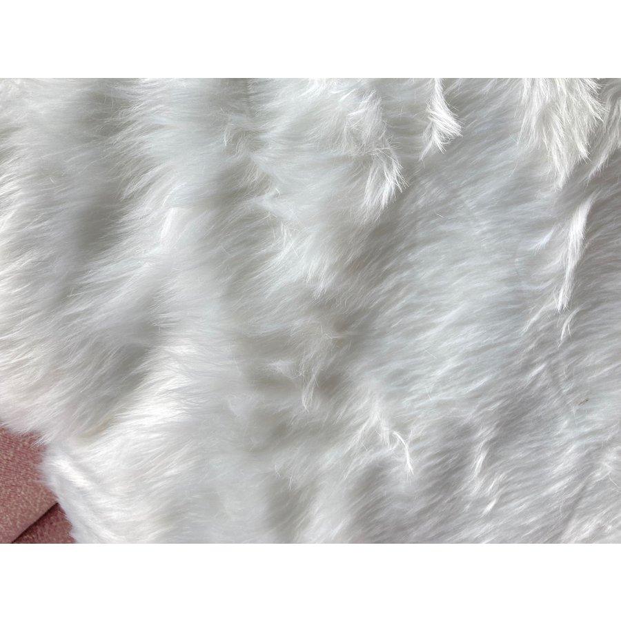 Kussen Fluffy wit 45 x 45 cm-5