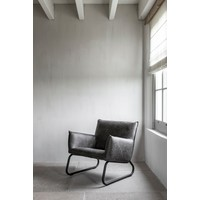 thumb-Fauteuil Snake in cognac of charcoal-8