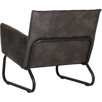 thumb-Fauteuil Snake in cognac of charcoal-4