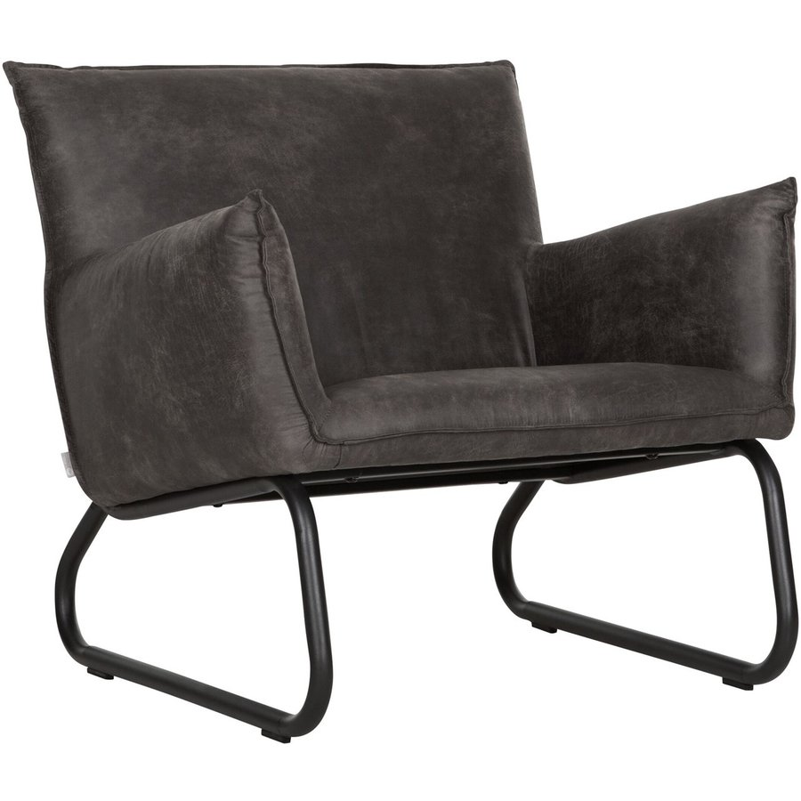 Fauteuil Snake in cognac of charcoal-2