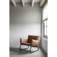 thumb-Fauteuil Snake in cognac of charcoal-9