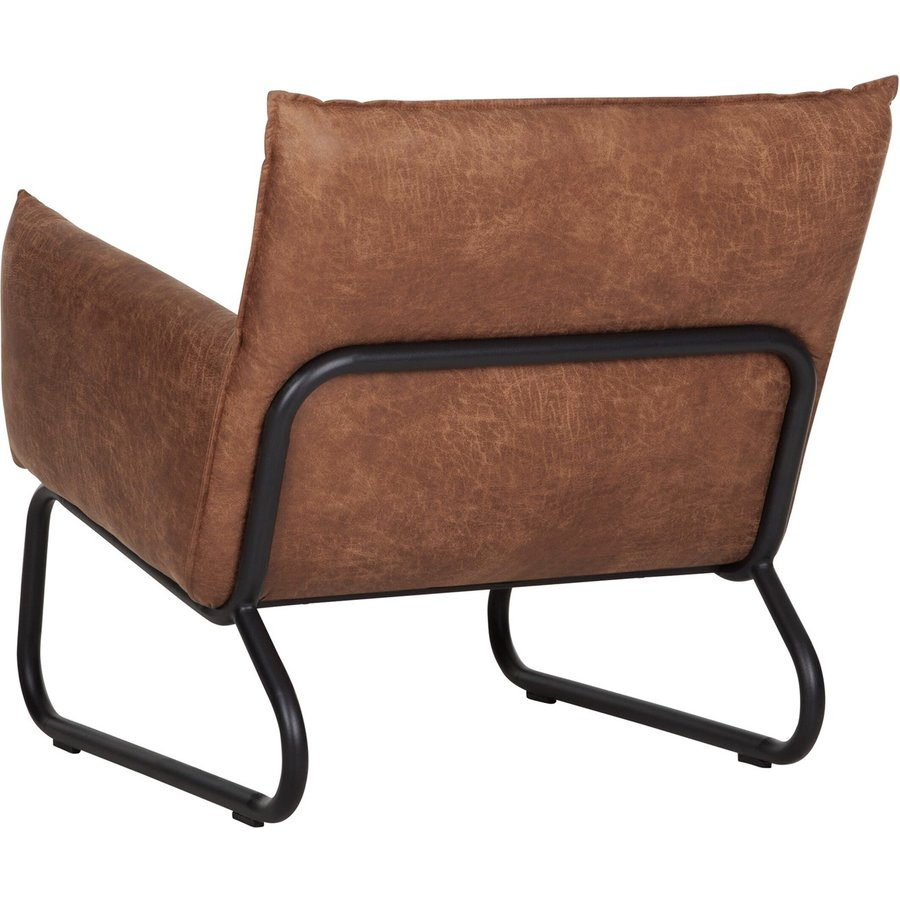 Fauteuil Snake in cognac of charcoal-3
