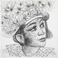 thumb-Must Living Wall Art Balinese Girl-1