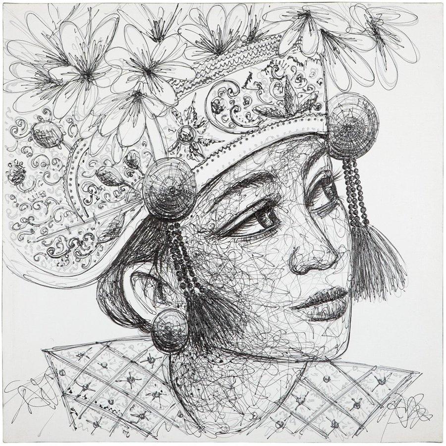 Must Living Wall Art Balinese Girl-1