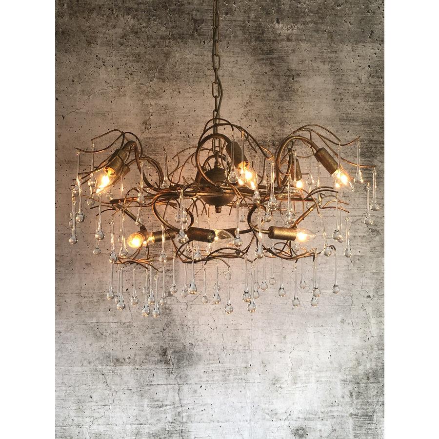Hanglamp COMO rond 80 cm in bladzilver of brons-2