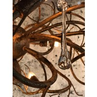 thumb-Hanglamp COMO rond 80 cm in bladzilver of brons-3