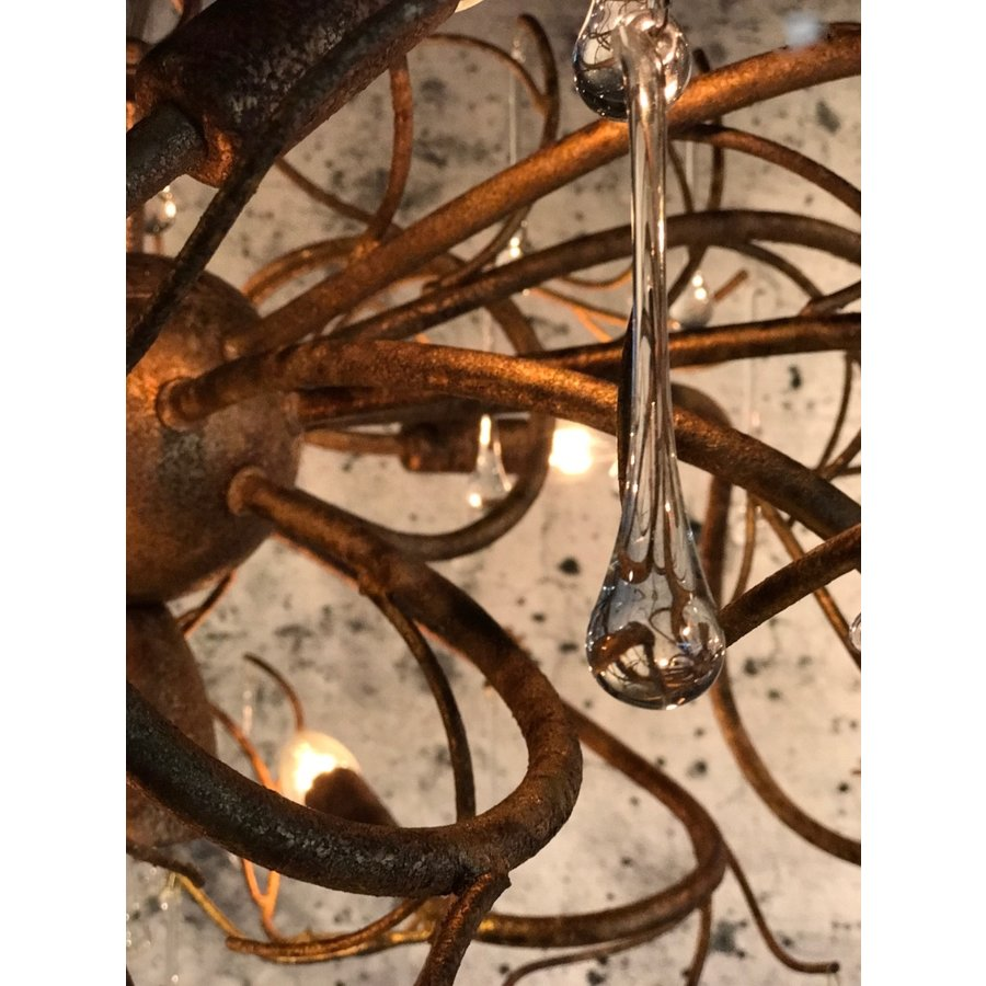 Hanglamp COMO rond 80 cm in bladzilver of brons-3