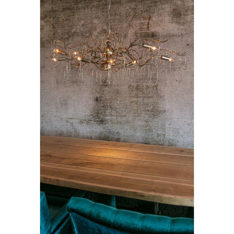 Hanglamp COMO rond 80 cm in bladzilver of brons-5