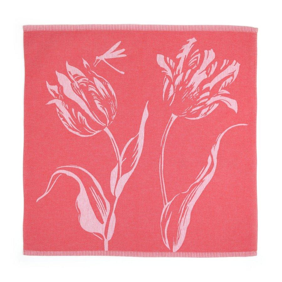 Theedoek Tulips Rood-2