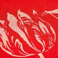 thumb-Theedoek Tulips Rood-3