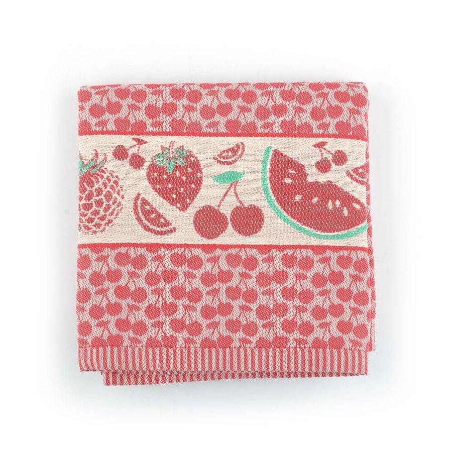 Keukendoek Fruit Rood-1
