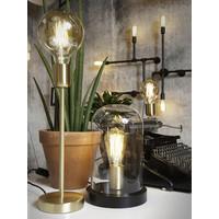 thumb-Tafellamp Seattle van glas en hout-3