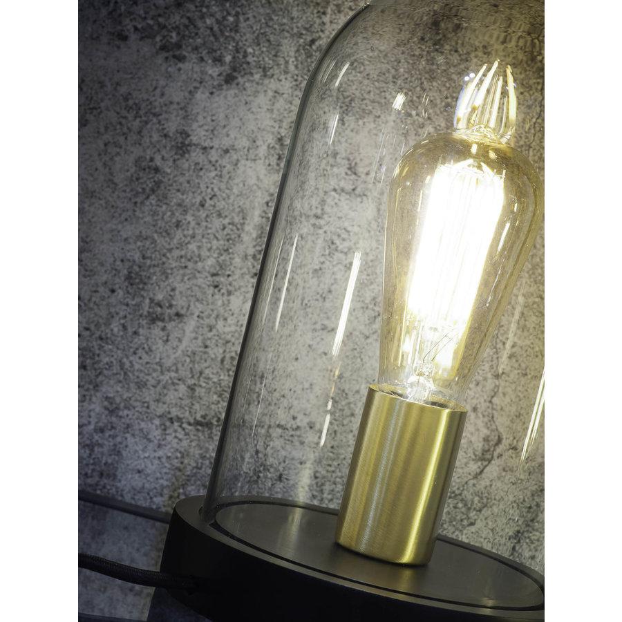 Tafellamp Seattle van glas en hout-4