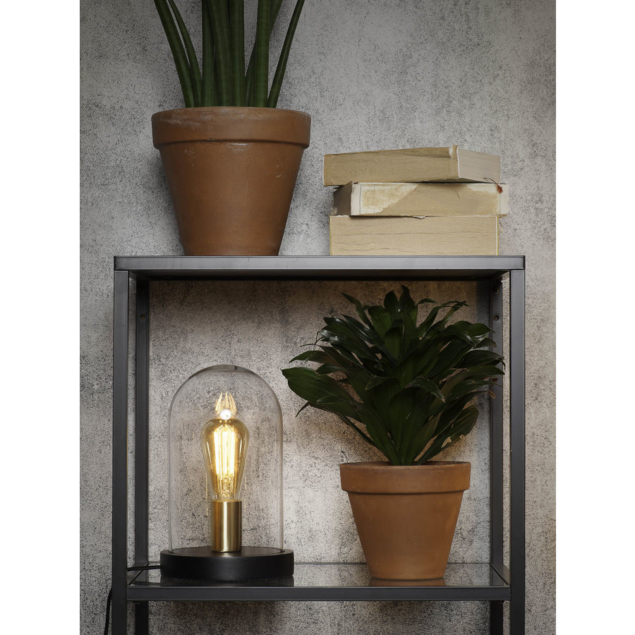Tafellamp Seattle van glas en hout-5